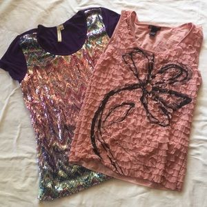 Tops - Lot of 2 Blouses Size Large